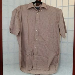 NWOT Red checkered Dockers dress shirt. Size M.